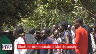 Details on the violent strike by Moi University students