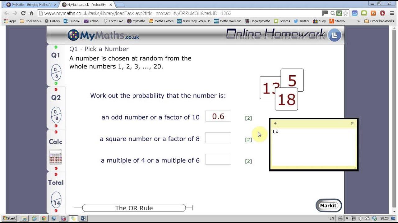 mymaths OR RULE Q1 - YouTube