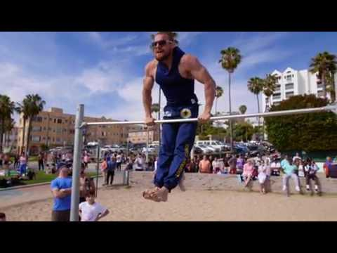 Street Workout - Islam Badurgov in Santa Monica, California