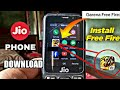How to download free fire game in jio mobile| free fire game play in jio phone| Download free fire