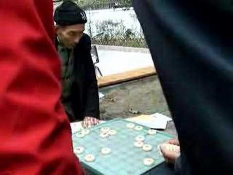 Chinese chess game in Chengdu park