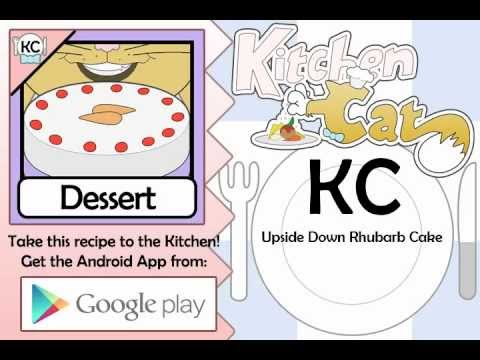 Upside Down Rhubarb Cake - Kitchen Cat