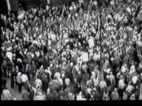 "AFL-CIO ""Hard hats"" protest Labor Dept. hearing on discrimination (1969)"