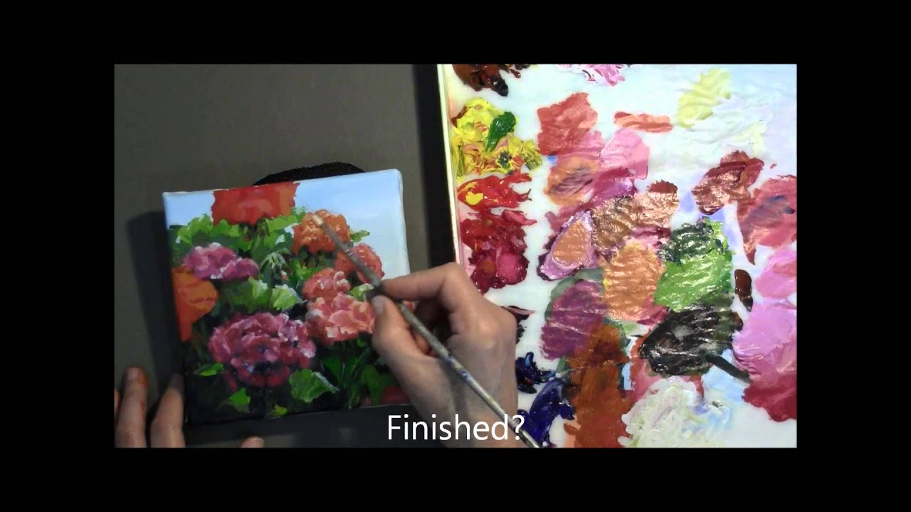 Bright Cheerful Colorful Acrylic Flower Painting Demo