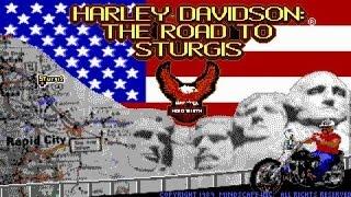 Harley-Davidson: Road To Sturgis gameplay (PC Game, 1989)