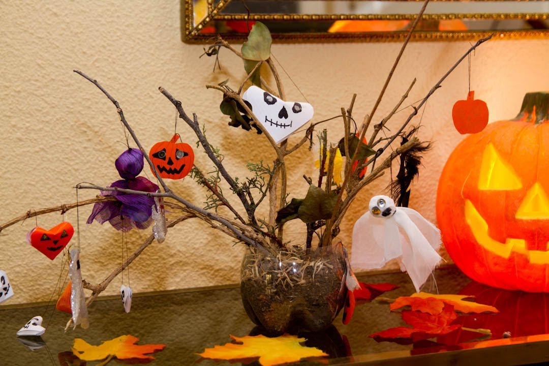 Arbol de Halloween Pequeño para Decoracion - YouTube