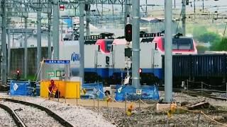 코레일 중앙선 화물열차 괴동행 제천역 발차영상