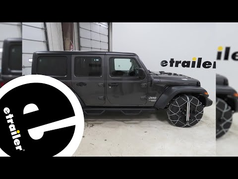 Konig Self-Tensioning Low-Pro Snow Tire Chains Installation - 2018 Jeep JL Wrangler Unlimited