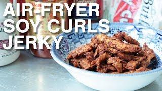 Vegan Air Fryer Soy Curls Jerky