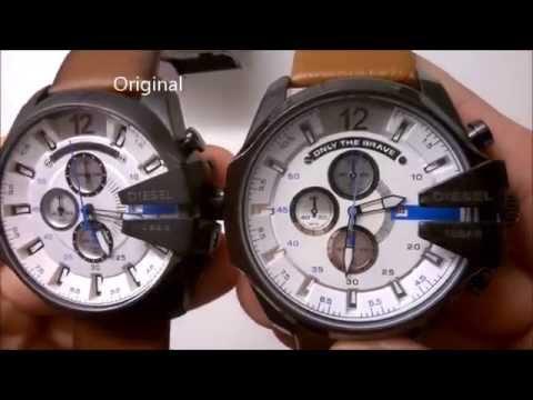 4e5304b9268b Diesel DZ4280 original VS replica - YouTube