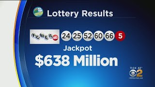 Saturday's winning powerball numbers, worth $638 million, have been revealed.