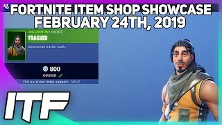 Fortnite Item Shop *RARE* TRACKER SKIN IS BACK! [February 24th, 2019] (Fortnite Battle Royale)