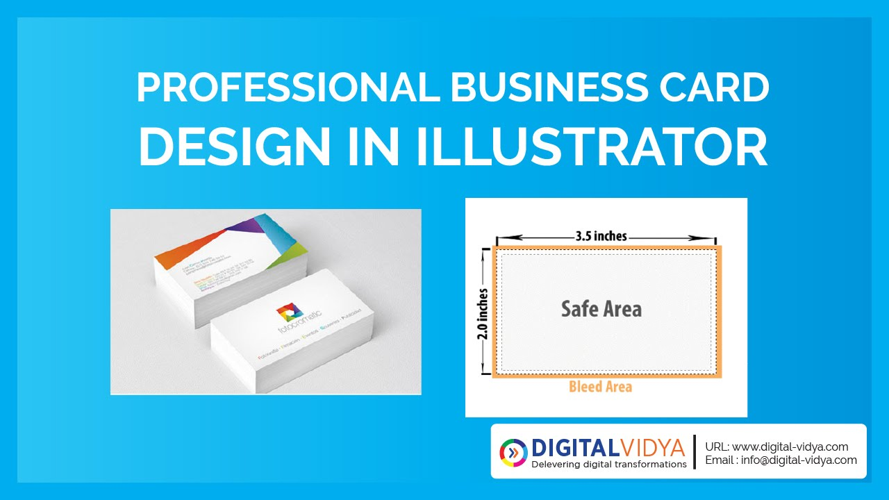 Telugu tutorialcreative business card design in for Visiting card size in inches