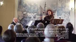 Carl Philipp Emanuel Bach (1714-1788) - Sonate D-Dur Wq 83 - 2. Largo