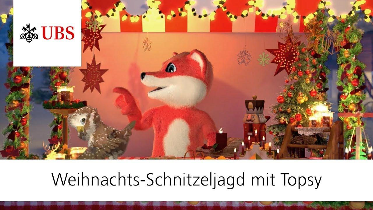 Weihnachts-Schnitzeljagd mit Topsy und seinen Freunden | UBS Topsy ...
