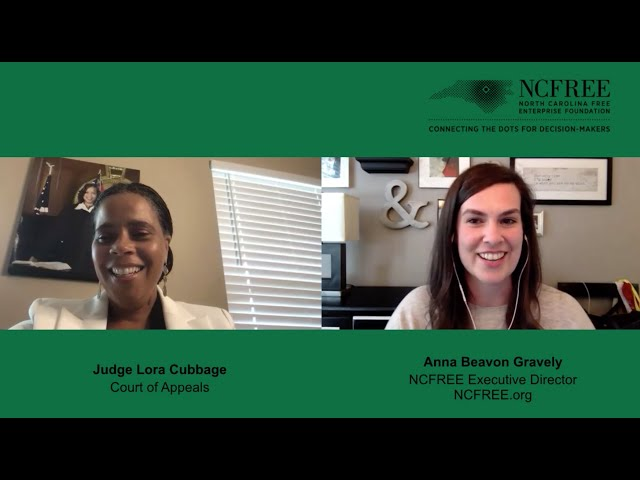 NCFREE Judicial Interview - Judge Lora Cubbage - Court of Appeals Seat 5