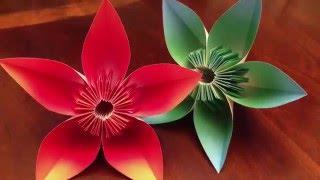 Easy origami kusudama flower clipzui simple kusudama flower tutorial mightylinksfo