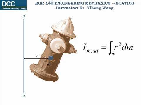 Statics Lecture 32: Mass Moment of Inertia and Area Moment of Inertia
