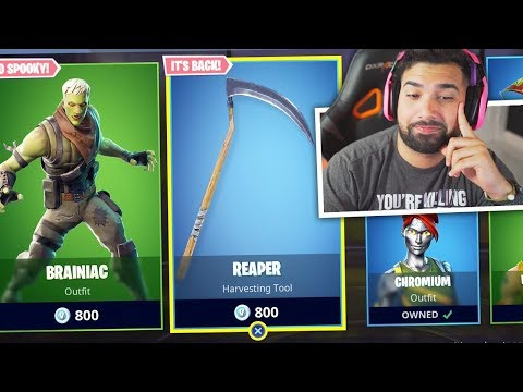 BUYING The Fortnite REAPER Pickaxe..