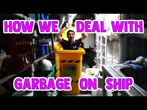 Garbage Compacting - How we deal with garbage on ship  | Medical Ship Series