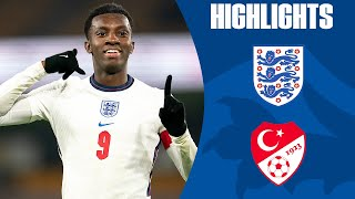 Record Breaker Nketiah Books Euro Spot! | England U21 2-1 Turkey U21 | Official Highlights