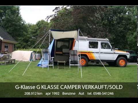 mercedes benz g klasse g klasse camper verkauft sold youtube. Black Bedroom Furniture Sets. Home Design Ideas