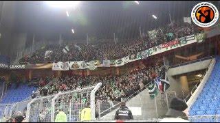 FC Basel - AS Saint-Etienne 25.02.2016 Corteo, Pyro & Support Awayfans
