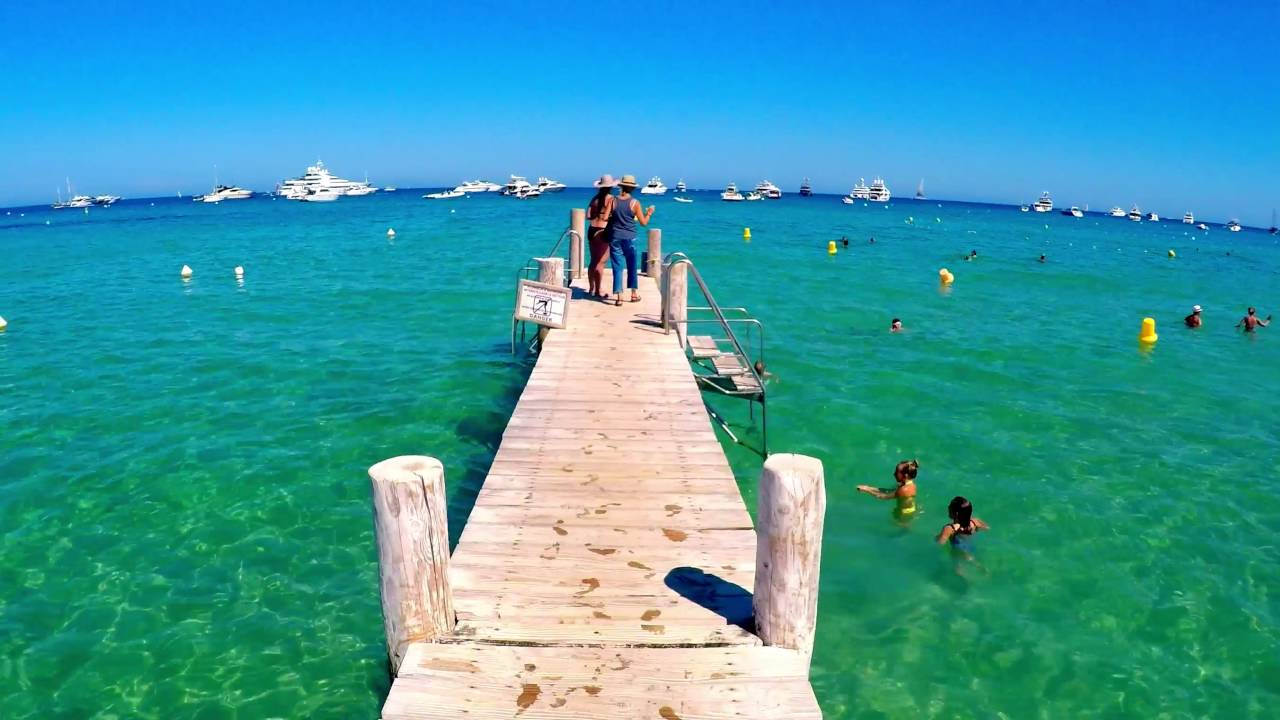 St Tropez Pampelonne Beach The Beach Of Celebrities Youtube