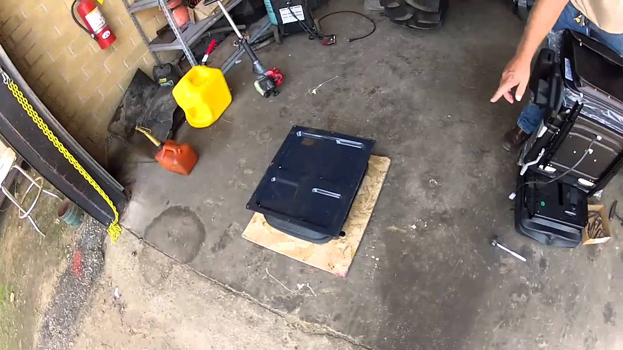 Installing a Grammer Air Ride Seat in a 4600  YouTube