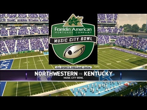 2017 Music City Bowl Full Gameplay (NCAA Football 14)