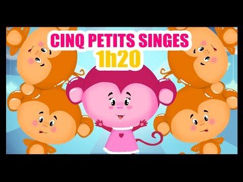 Cinq petits singes - 1h de Comptines pour les bébés - Titounis