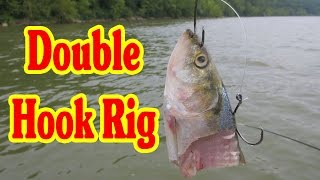 Using a Double hook rig to catch Big Catfish