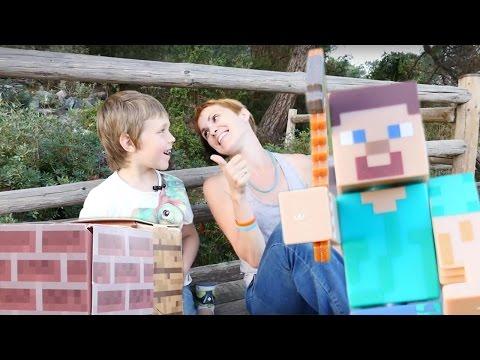 Майнкрафт. ГОЛОДНЫЕ ИГРЫ. Инструкция для новичков. Адриан, Маша и игрушки Minecraft