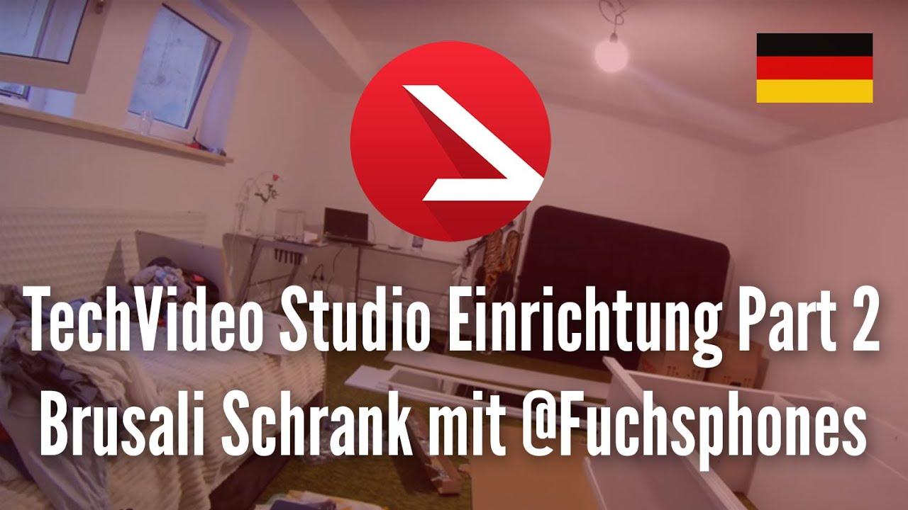 TechVideo Studio Einrichtung Part 2 - Brusali Schrank mit ...