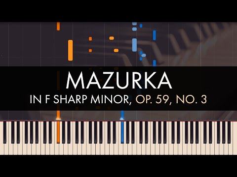 Frédéric Chopin - Mazurka in F sharp Minor, Op. 59, No. 3 (Synthesia)