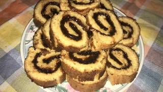Gebäckrolle mit Marmelade Rezept/Rolat sa marmeladom recept/How to Make Jam Roll