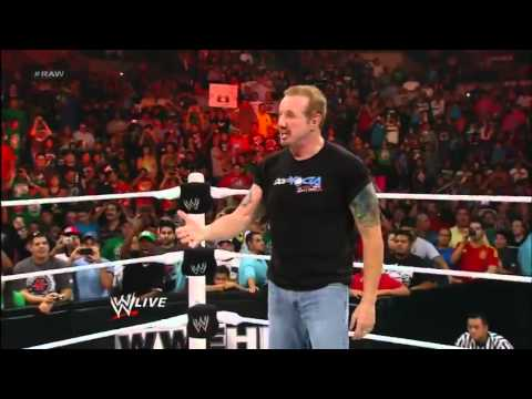 DDP Returns At WWE Raw 2/7/2012 WWE HD