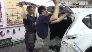Ремонт Мазды СХ-5. Body repair after an accident.