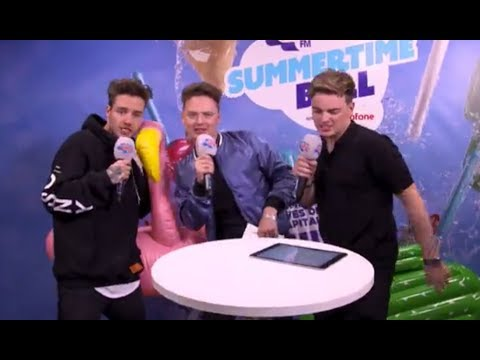 Liam Payne , Conor Maynard & Jack Maynard Sing Together At Capital FM