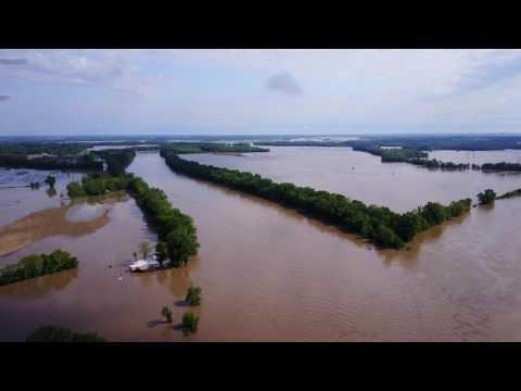 2017 Wabash River Flood @ Mt. Carmel