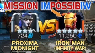 Mission Impossibiw: Proxima Midnight vs. Iron Man (Infinity War) (5* R5) w/ Tips | MCoC