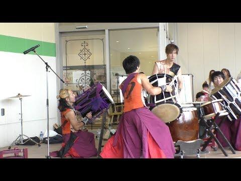 和太鼓グループ彩 「メンバー紹介、祭宴、叶」~アリオ上尾 特別ライブ 2017.07.01