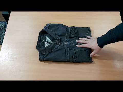 Рубашка джинсовая темно-серая
