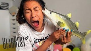 JUMBO FISH SQUISHY?! AMAZING GEAR BEST SQUISHY PACKAGE EVER!!