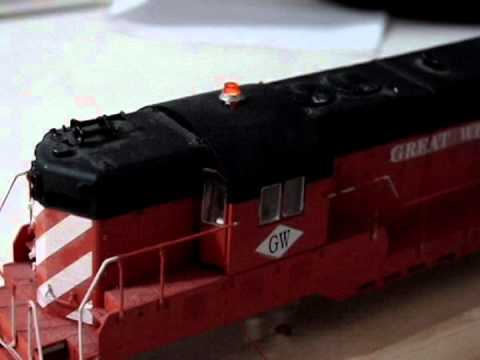 HO Scale Working Rotating Beacon Light for DCC Models