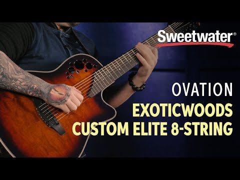 Ovation ExoticWoods Custom Elite 8-string Acoustic-electric Guitar Demo