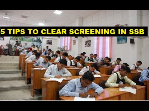 TOP 5 TIPS TO CLEAR SCREENING IN SSB || SCREENING TEST REVEALED || SSB
