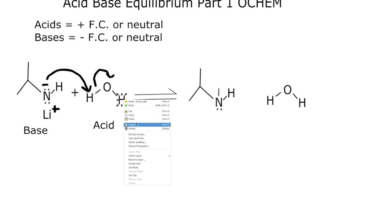 which side of an acid base reaction is favored organic chemistry