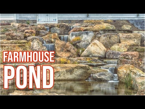 FARMHOUSE POND | Large Boulder WATERFALL