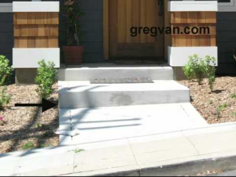 Concrete Stair Riser And Sidewalk Tip   Exterior Walkway Design   YouTube